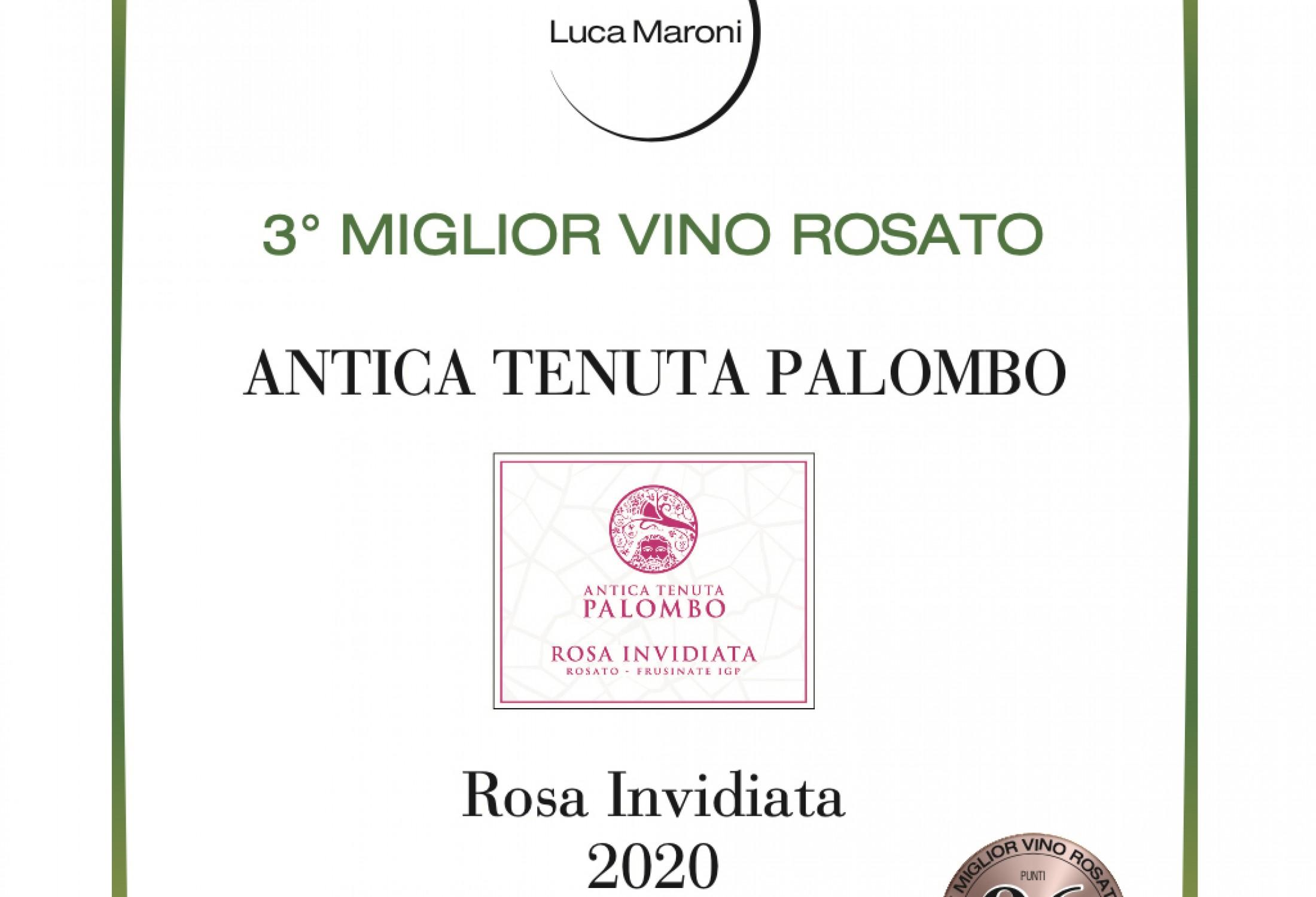 Rosa Invidiata 2020  -  3° Miglior vino rosato